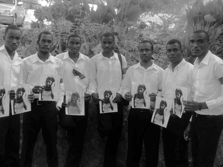 Des étudiants haïtiens en République Dominicaine en mémoire de Rooldine Lindor-Crédit : Osman