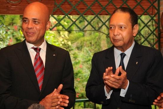 Michel Martelly et Jean-Claude Duvalier/Crédit photo : www.haitilibre.com